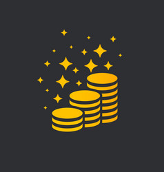shining money stack vector image
