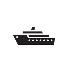 ship - black icon on white background vector image