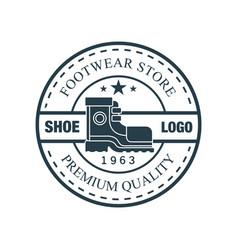 Shoe logo footwear store premium quality estd vector