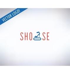 Shoes logo icon style cloth or shop vector