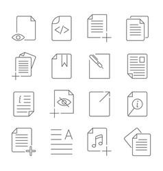 Simple set of document flow management line vector