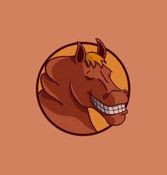 smile horse design vector image