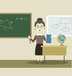 smiling school teacher vector image