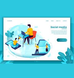 social network advertisement vector image
