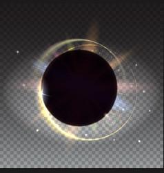 Solar eclipse astronomical phenomenon - full sun vector
