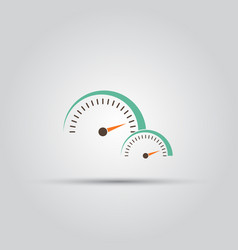Speedometer isolated colored icon vector