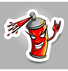 Spray paint red vector