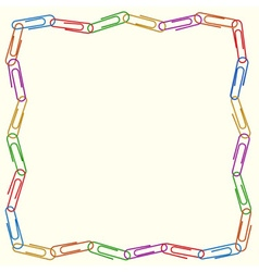 square frame of colorful clips vector image