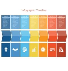 Timeline 7 options vector image