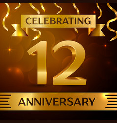 twelve years anniversary celebration design vector image