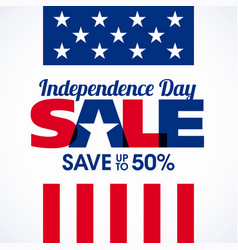 usa independence day sale banner fourth of july vector image