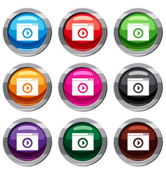 video player set 9 collection vector image