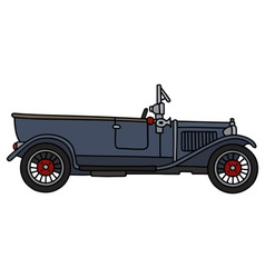 Vintage dark open car vector