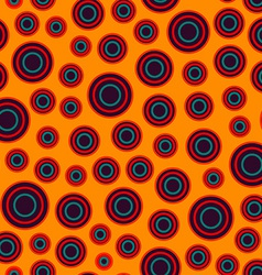 warm color circle seamless pattern vector image