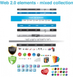 web menu tabs collection vector image