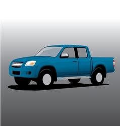 car cartoon pickup vector image