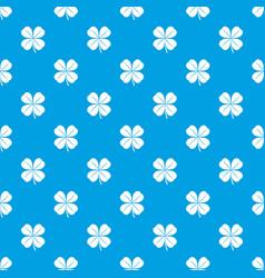 clover leaf pattern seamless blue vector image vector image