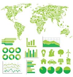 Eco infographic vector image