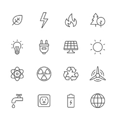 Ecology and Energy Icons vector image