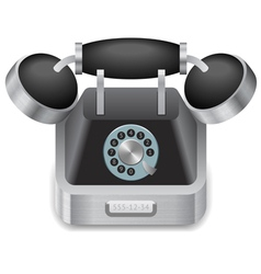 Icon for vintage phone vector image vector image