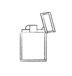 metal lighter icon vector image