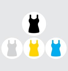 Singlet sleeveless flat icon the circle vector image vector image
