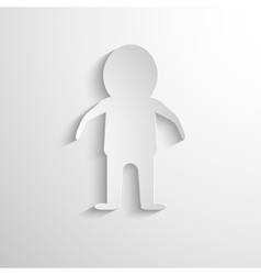 white paper figure of the man vector image vector image