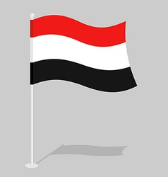 Yemen Flag Official national mark of Republic of vector image vector image