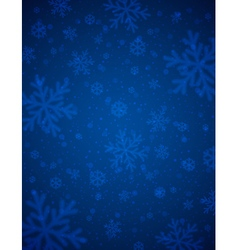 Blue background with blurred snowflakes vector image vector image