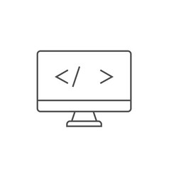 coding outline icon vector image