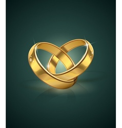 golden wedding rings vector image vector image