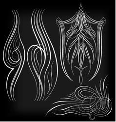 pinstriping set1 vector image vector image