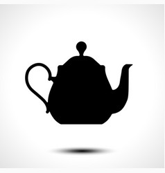 teapot kettle tea kettle icon vector image