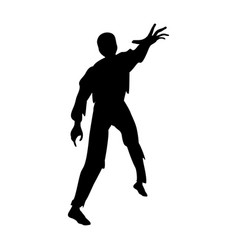 zombie silhouette scary monster fantasy vector image