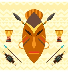 African ethnic background with of mask vector image vector image