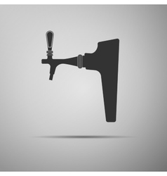 Beer tap icon vector