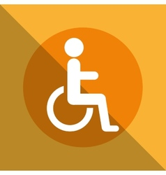 disabled zone vector image vector image