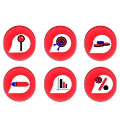 Red businness icon vector image