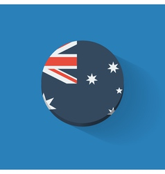 Round icon with flag of Australia vector image vector image