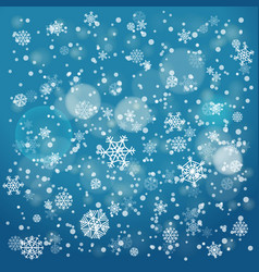 snowfall in winter abstract background christmas vector image vector image