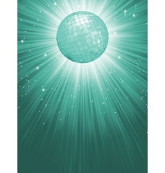 Beidge disco rays with stars EPS 8 vector image vector image
