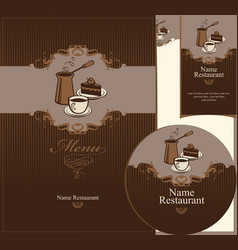 coffee dessert vector image