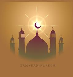 Elegant mosque design for eid mubarak festival vector
