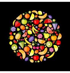 fruits circle vector image vector image