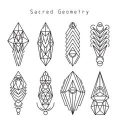 linear sacred emblems vector image vector image