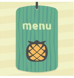 Pineapple fruit icon modern infographic logo vector