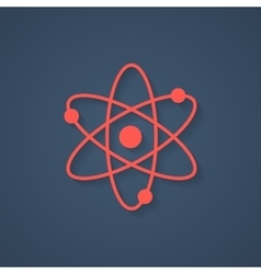 red atom icon with shadow vector image vector image