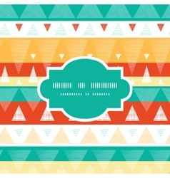 vibrant ikat stripes frame seamless pattern vector image vector image