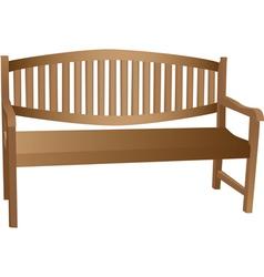 wooden bench vector image vector image