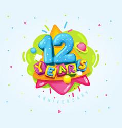 12 years vector